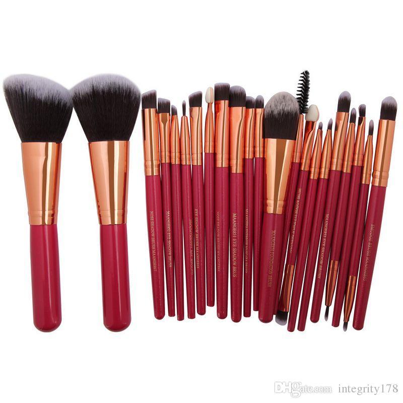 MAANGE Pro 22 pcs Cosmétique Maquillage Brosses Ensemble Blusher Ombre à Paupières Brow Lip Poudre Fondation Maquillage Kit de Brosse Beauté Essentials