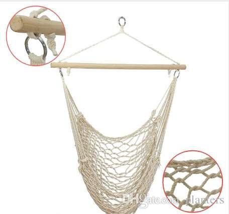 SGODDE Outdoor Hängematte Hängenden Stühle Schaukel Baumwolle Seil Net Schaukel Wiegen Kinder Erwachsene Outdoor Indoor Heißer Verkauf