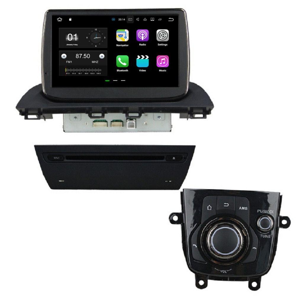 """1024 * 600 9 """" Android 7.1 автомобильный DVD автомобильный радиоприемник GPS мультимедийный головной блок для Mazda 3 Axela 2014 с 2 ГБ оперативной памяти Bluetooth 4G WiFi Mirror-link"""