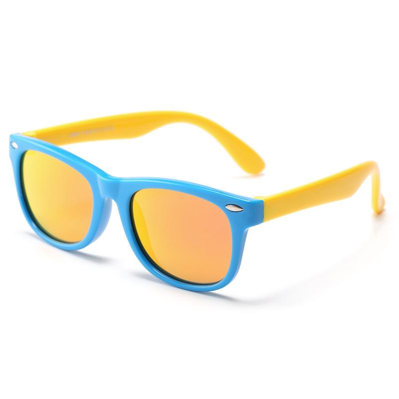 Children Sunglasses Sun Glasses Polarized 2018 Uv Protected Glass Goggles New Fashion Girls Coating Lens Pin Decor Silica Gel Frames
