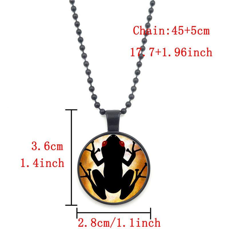 XUSHUI XJ Пуэрто-Рико Коки стекло кабошон кулон ожерелье ювелирные изделия черный цепи бусины длинные ожерелья для женщин