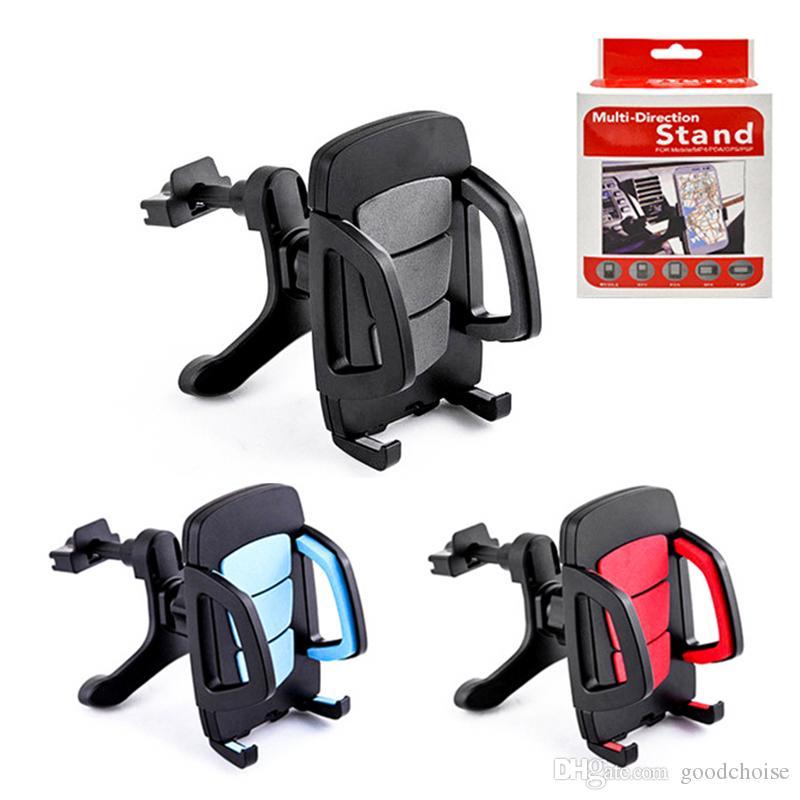 Universal Car telefone respiradouro de ar montar titular suporte para carro ajustável montar com o pacote de suporte do telefone do carro para o telemóvel