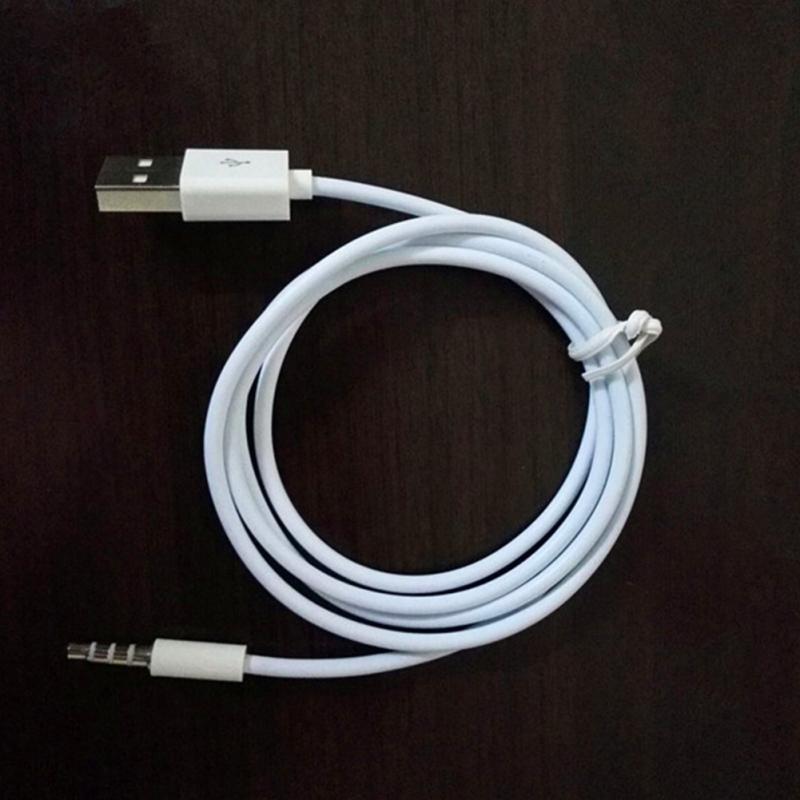 1 M White Color 2 w 1 3.5mm Aux Audio Plug Gniazda do USB 2.0 Męski Ładowy kabel kablowy przewód