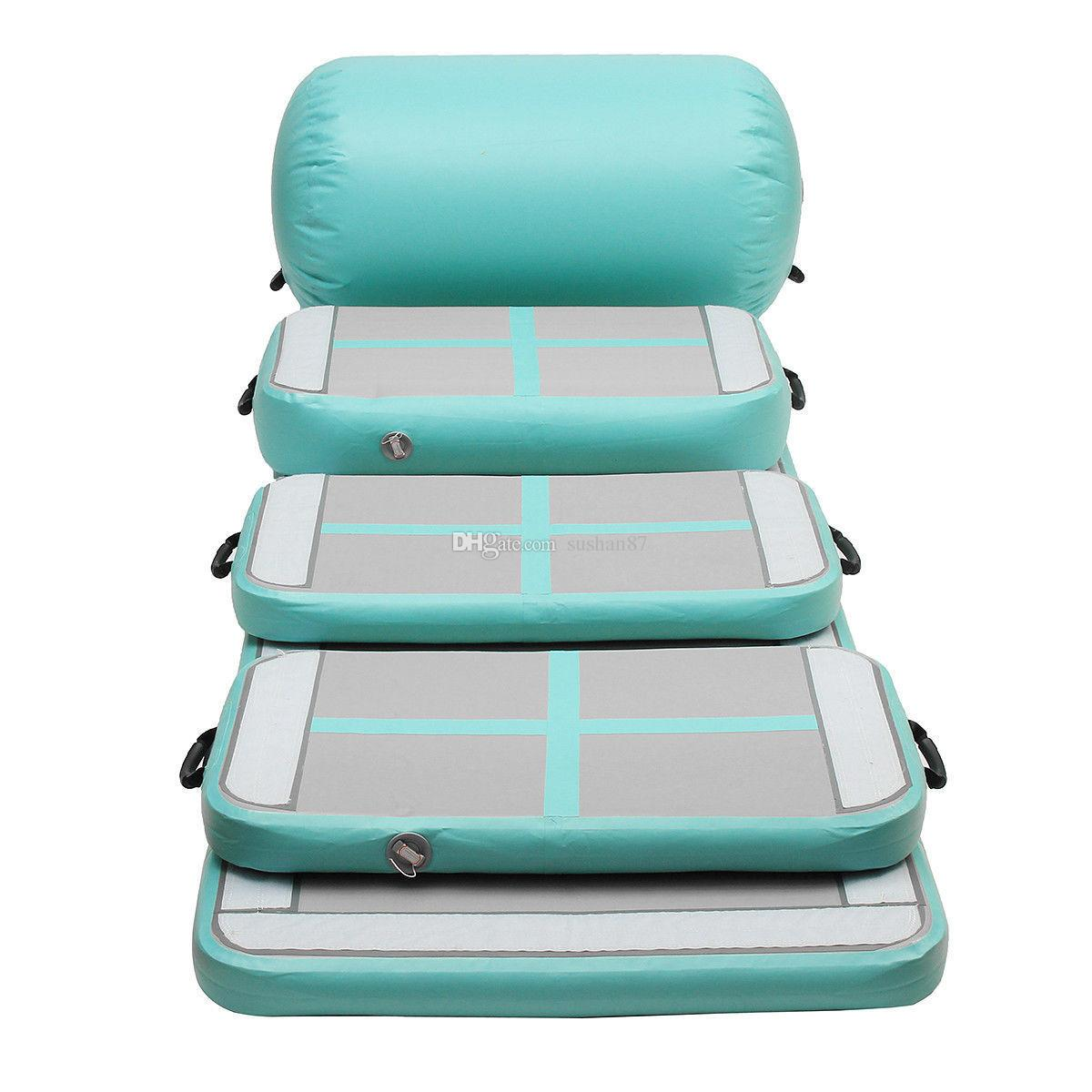 Free Shipping Top Quality A Set(Include 5 Pieces) Gymnastics Air Mat Inflatable Air Track Inflatable airtrack For Children Come With a Pump