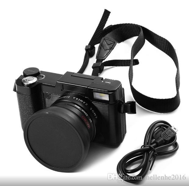 24MP HD Halk-DSLR Profesyonel Dijital Kamera W / 4X Telefoto, Balıkgözü Geniş Açı Lens Kamera Makro HD Video Kamera