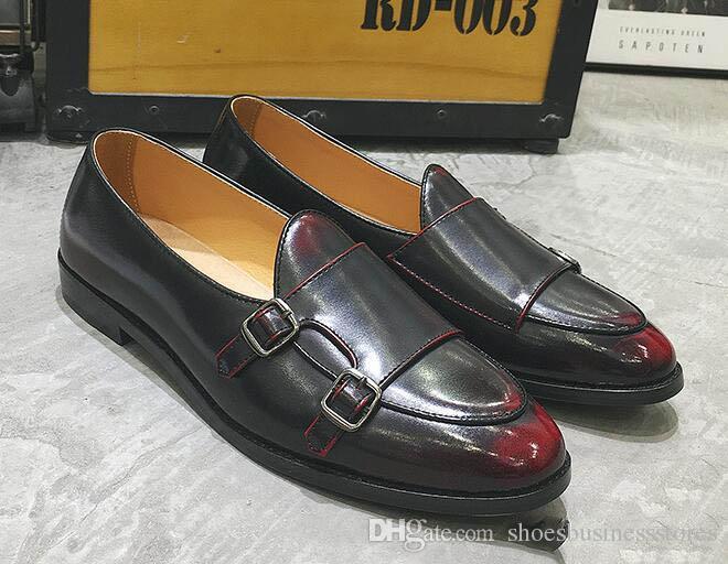 Старинные дизайнер мужчины смешанные цвета пояса обувь бездельник мужской Homecom Пром платье Свадебные туфли мокасины Sapato социальной Masculino