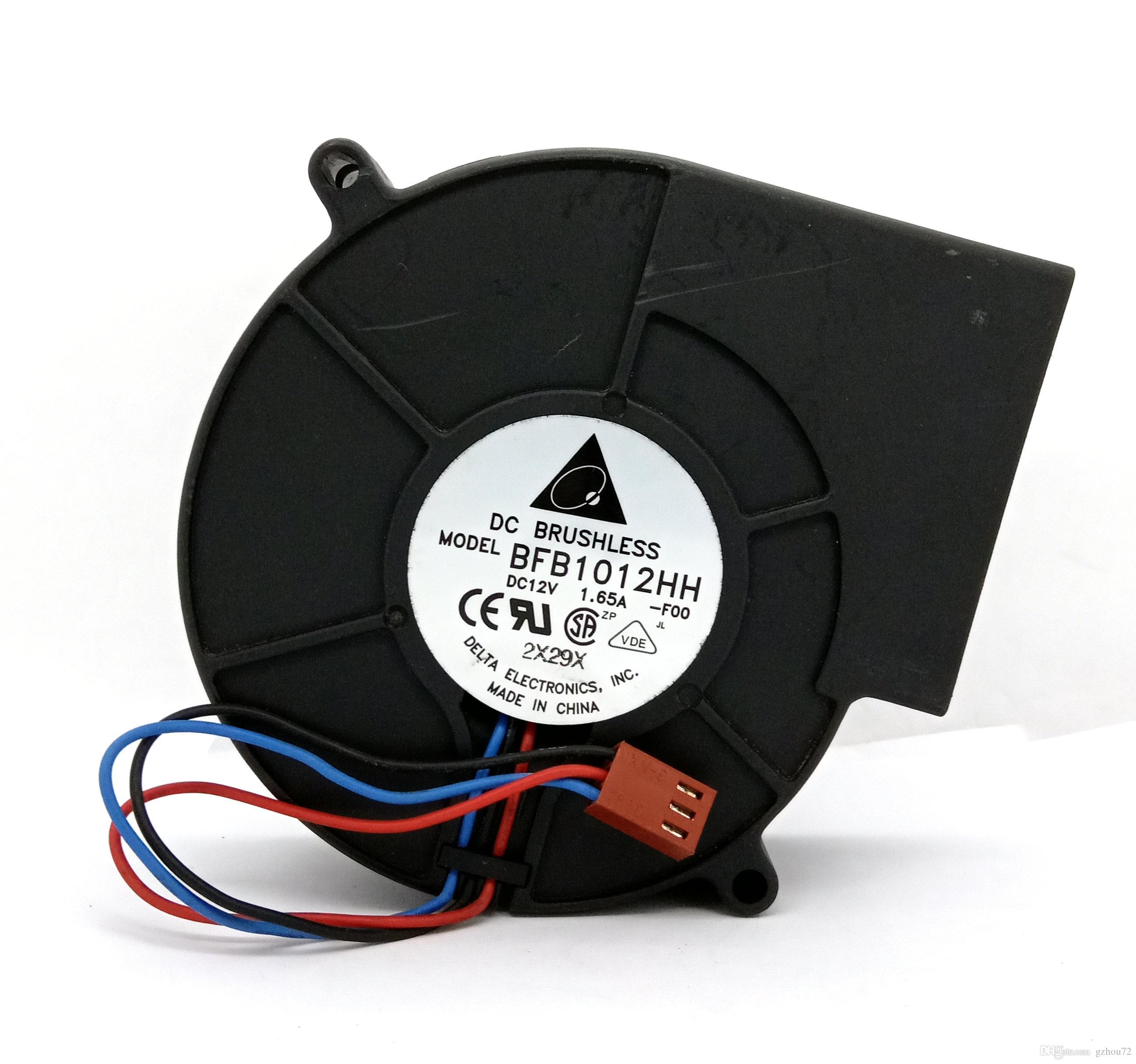 Original Delta BFB1012HH -F00 DC12V 1.65A 97x33MM 3Lines ventilador de refrigeração