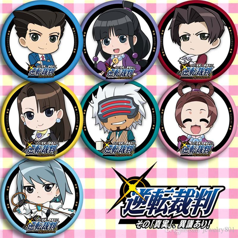 2020 Anime Ace Attorney Season Reiji Ryuuichi Mayoi Godot Pin