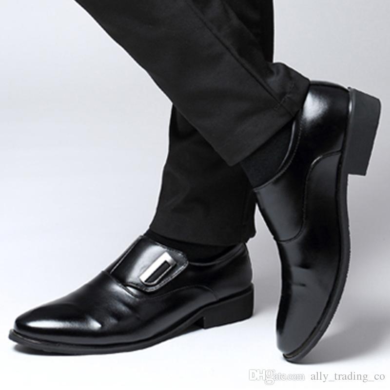 2018 uomini di grandi dimensioni scarpe oxford per uomo scarpe da sposa formale mariage zapatos hombre business dress scarpe sapato masculino