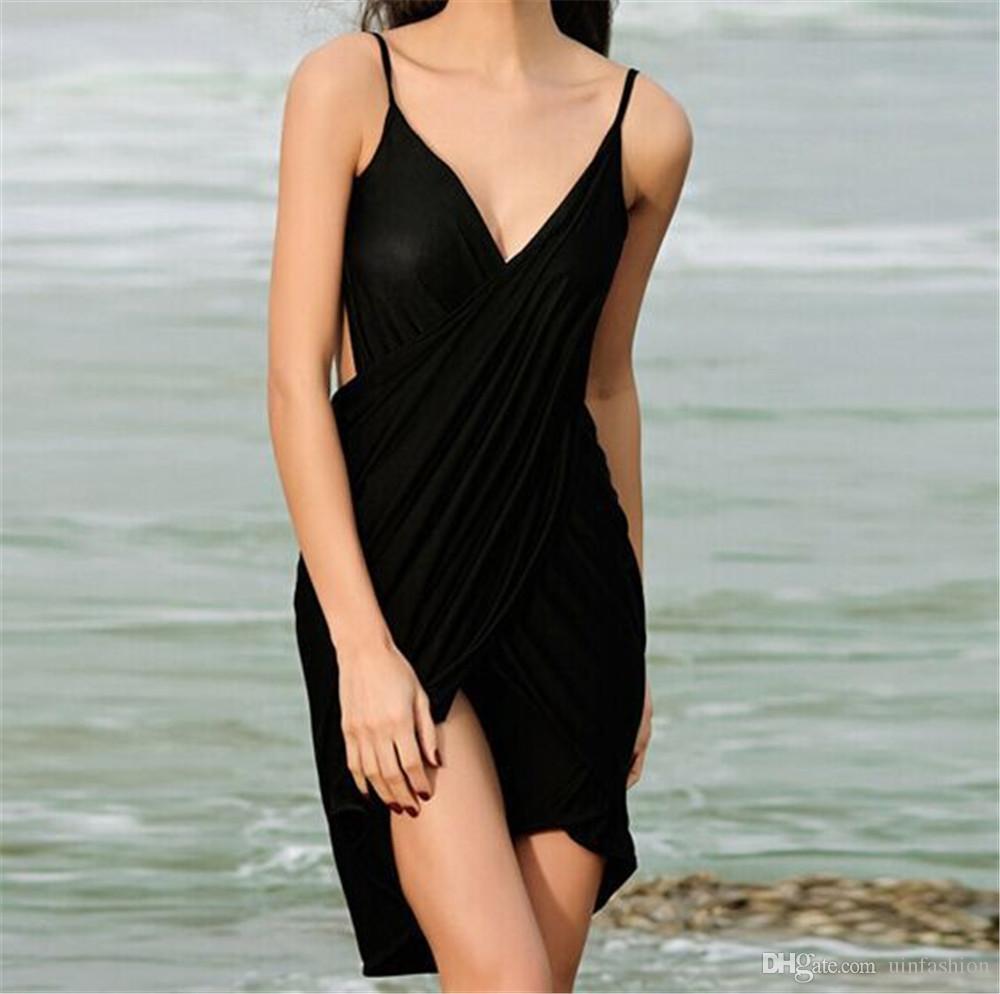 Costume da bagno donna Bikini sexy a righe con cinghie a forma di perizoma Bikini Summer Swimwear Cover Up Swim Beach Dress