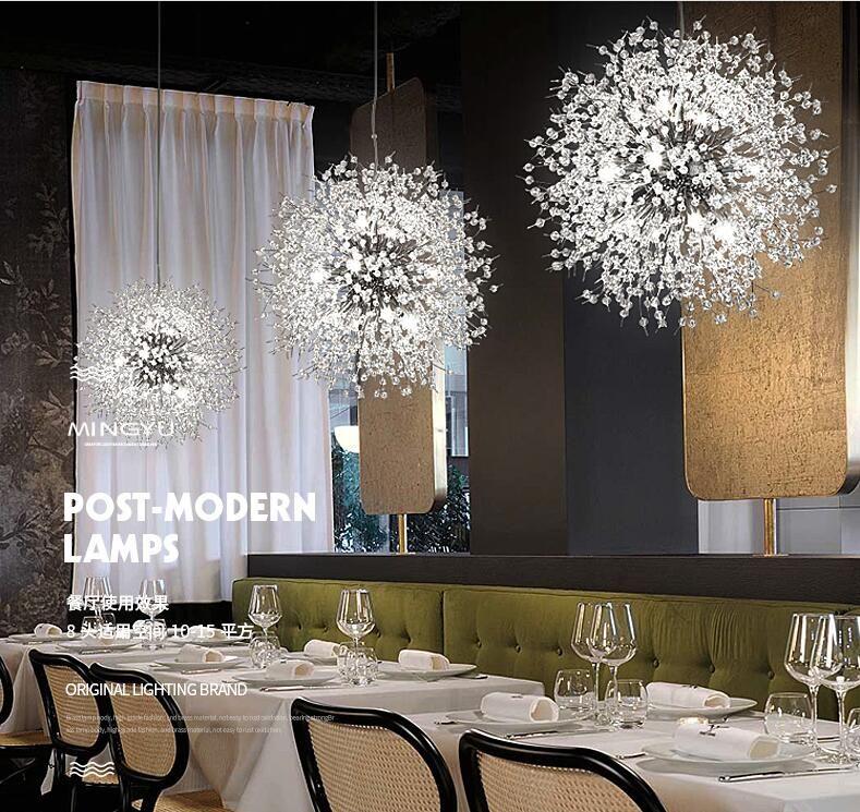 Girban Brand Modern Crystal Chandelier Chrome Golden Suspension Chandelier Hanging G9 LED Lighting lustre for Living Room