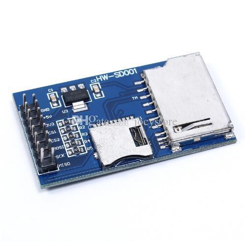 Spedizione gratuita! 1 pz / lotto Modulo scheda SD Modulo scheda TF Micro SD Scheda di sviluppo MCU Microcontroller SPI per Arduino / 51 / AVR / ARM