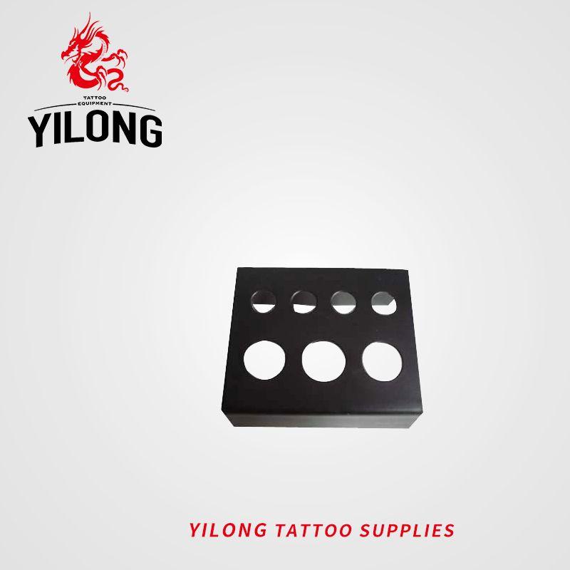 YILONG высокое качество черный из нержавеющей стали татуировки чернила держатель чашки стенд татуировки аксессуары Бесплатная доставка татуировки боди-арт