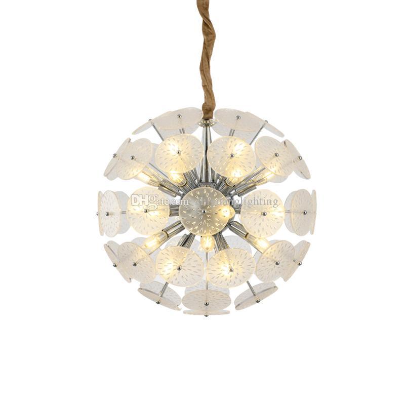 Postmodern creative chandelier Nordic living room bedroom personality carved designer lamp European restaurant lamp E14 lamps F9008