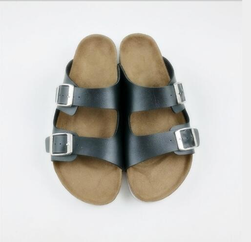 97e185ab035aa Brand Designer- Flat Sandals Cheap Women Casual Shoes Male Double Buckle  Summer Beach Top Quality ...