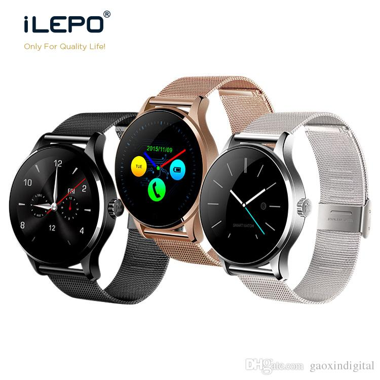 1pcs K88H Bluetooth Smart Watch MTK2502 Heart Rate Monitor Sync Phone Call Message Men Women Wrist Smartwatch for android phone smart watch