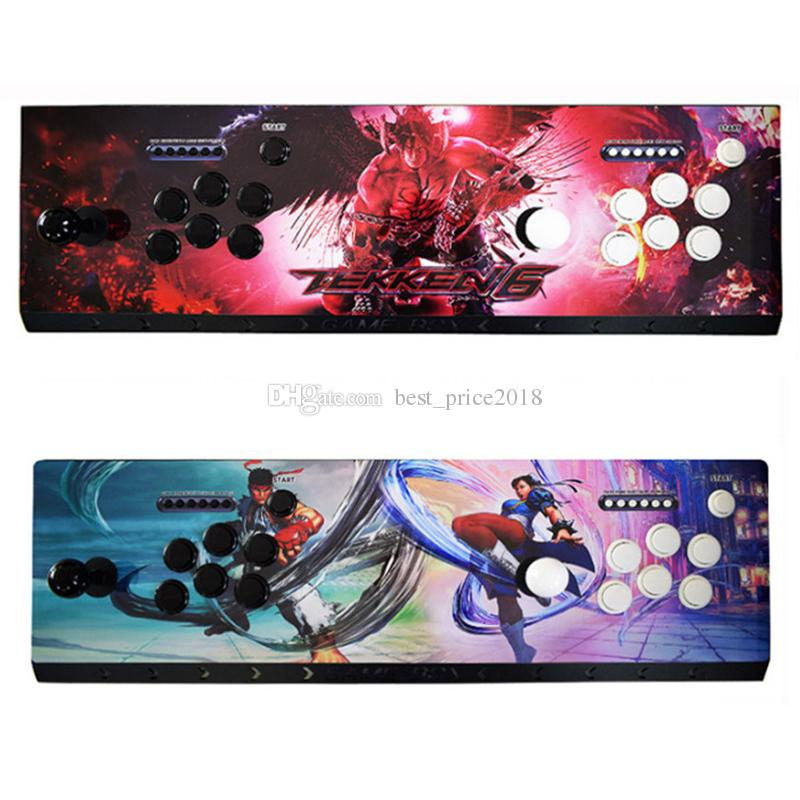 빛 1 플레이어 2 플레이어 2018 판도라 상자 (6 개) 1300 (1 개) 게임 아케이드 콘솔의 USB 조이스틱 아케이드 버튼은 복고풍 아케이드 게임 상자를 제어