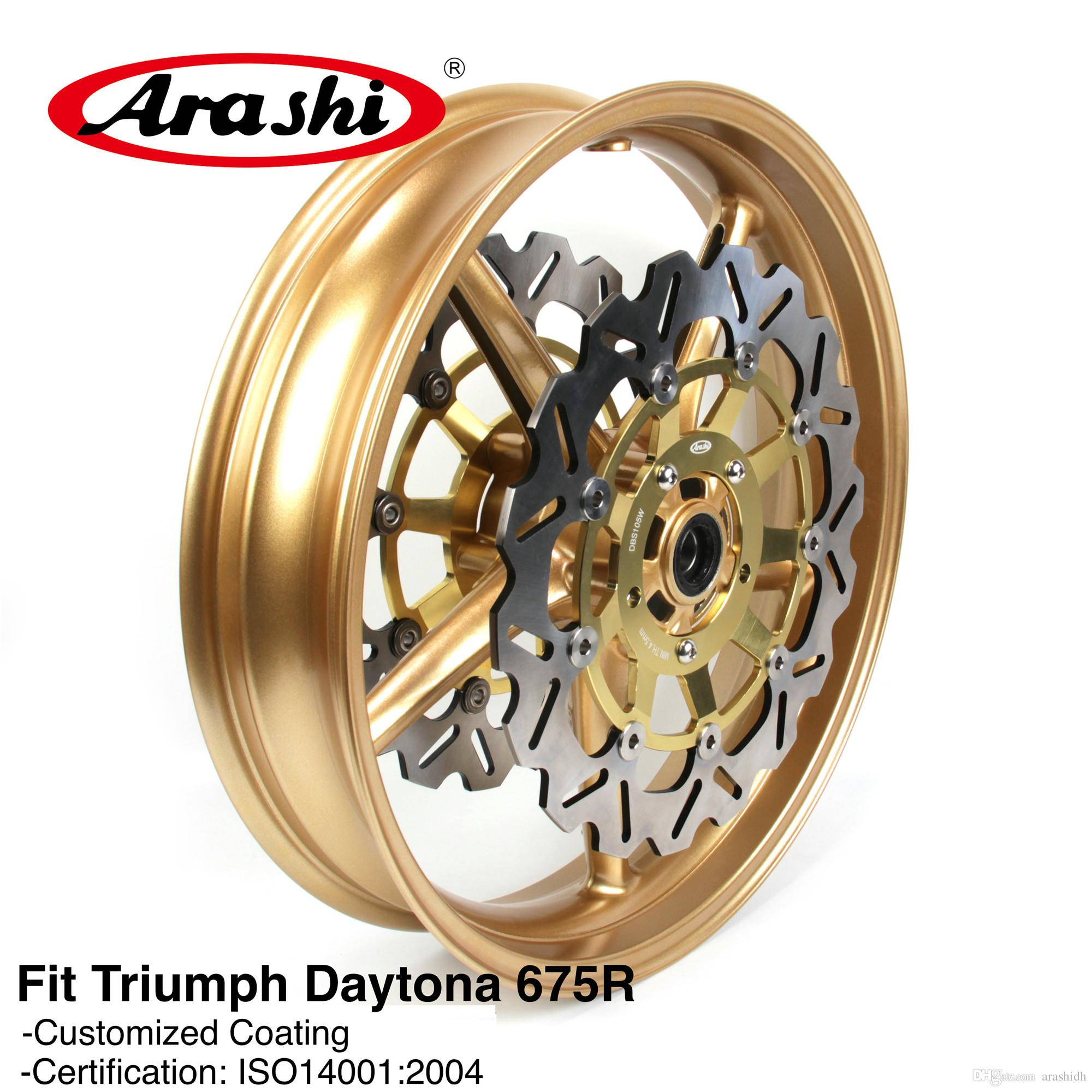 Arashi Floating Front Brake Disc Rotors For TRIUMPH STREET TRIPLE 675 2007-2012