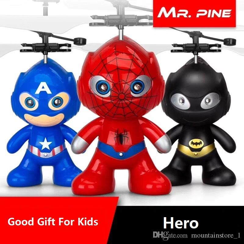 drone RC Helicopter Aircraft Mini drone Fly Flashing helicopter Hand Control RC Toys Minion Quadcopter Dron LED Kids Toys (Super Series)