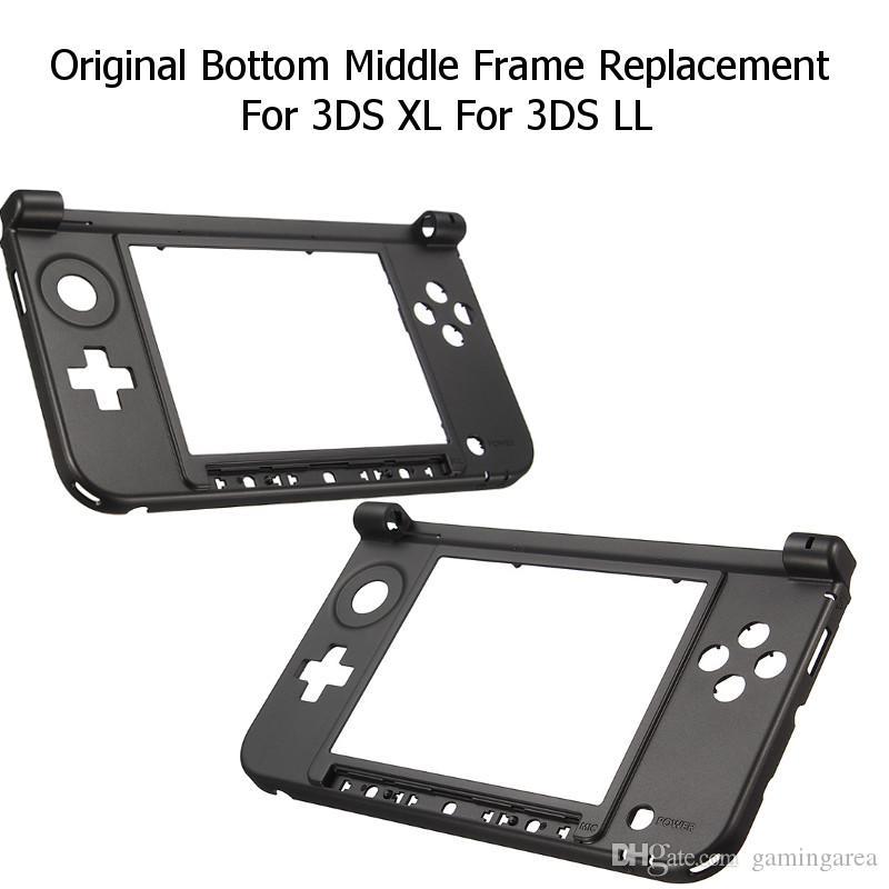 Copertura centrale della console dei corredi della sostituzione della struttura della cassa della copertura del guscio dell'alloggiamento inferiore per 3DS XL LL DHL FEDEX SME LIBERA IL TRASPORTO