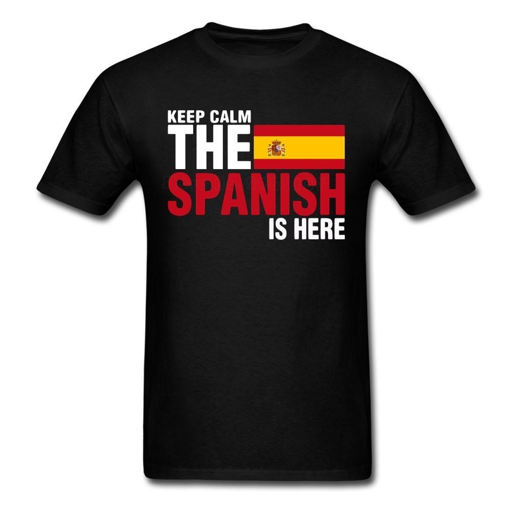 Novo Design de Impressão T Shirt Moda Mantenha A Calma É Aqui T Shirt Dos Homens New Coming Big Top Popular T-shirts