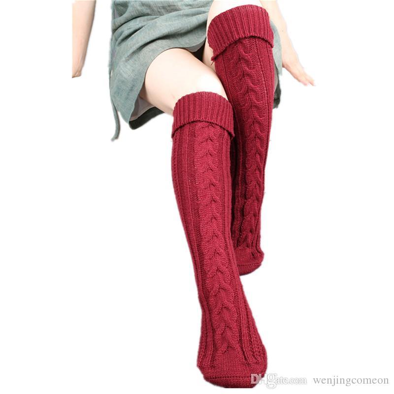 부츠 용 핫 롱 레그 워머 여성 여성용 겨울 인기 소프트 니트 발목 따뜻한 크로 셰 뜨개질 양말 두꺼운 레그 워머