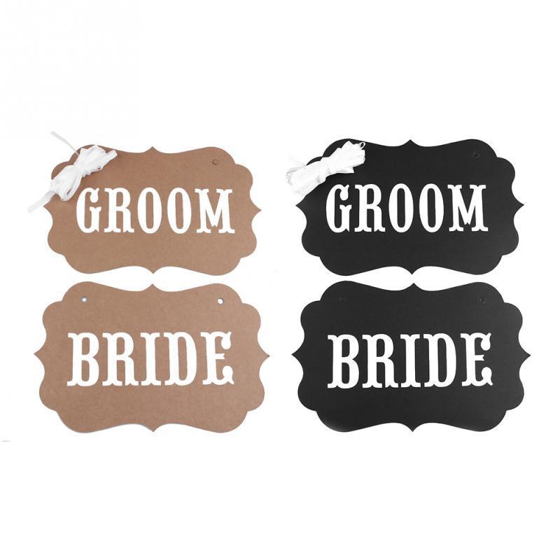 2 pcs/set New Arrivals Romantic Lovely Groom Bride Wedding Photography Props Creative Funny Photo Props