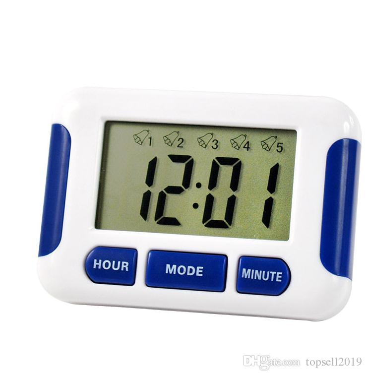 200 pcs Free DHL Alarm Clock 5 Groups Noisy Bell 12/24 Hours Countdown Multi Kitchen Home House Lab SN1421