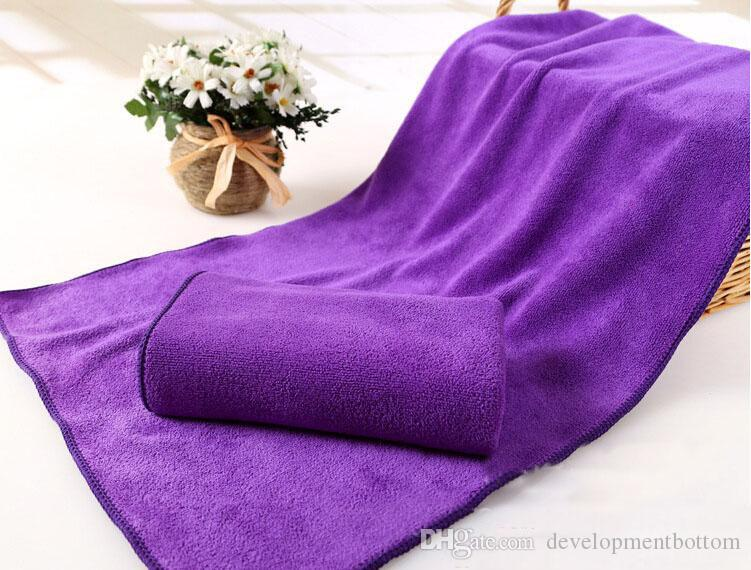 Polyester sterilized towel car wash cleaning towel microfiber absorbent dry hair towel 35*75