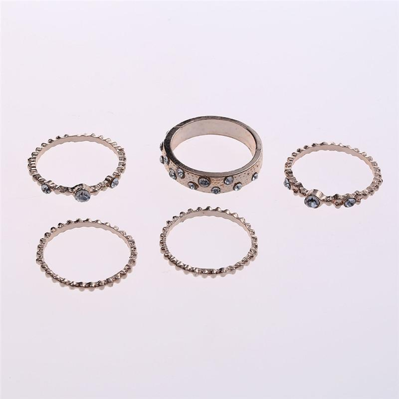 f805339658 2019 Aomu Beach Crystal Ring Set For Women Finger Ring Golden Plain Band  Mid Finger Knuckle Joint Rings Foot Toe Rings From Heheda1, &Price; | ...