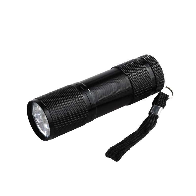 Portatile illumina mini 9LED torcia elettrica UV ultravioletta torcia elettrica principale Ultra Violet indicatore dell'inchiostro invisibile di rilevamento della luce della torcia 3 lampada uv