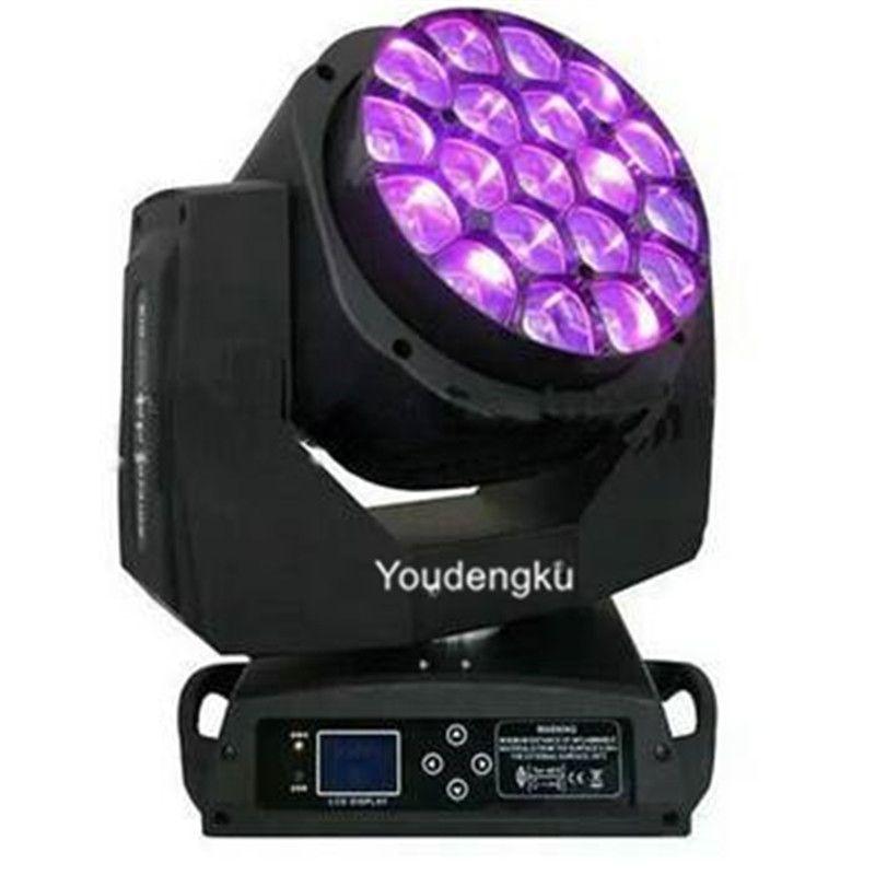 2 adet Büyük 19 * 15 W RGBW 4in1Bee Gözler LED Hareketli Kafa Zoom Işık Kil Paky Aleda Yıkama K10 B Göz Işın Hareketli