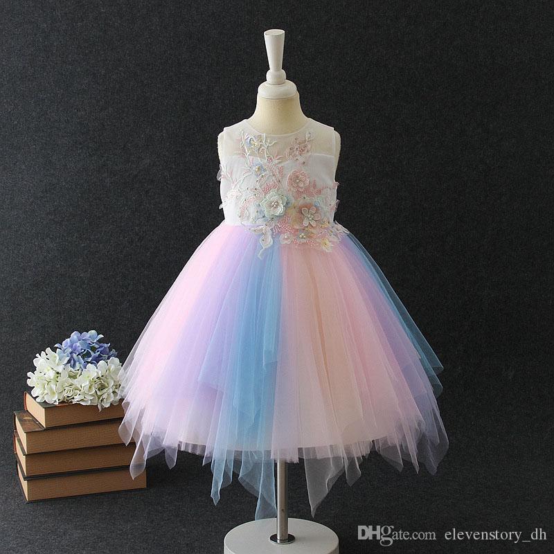 Compre 2 A 6 Años Vestidos De Verano Para Niñas Ropa De Flores Perlas Celebración Baile Presentación Ropa De Boutique Para Niños 6aa806ds 04