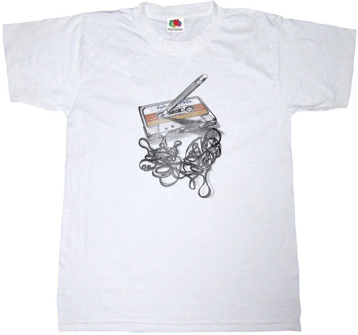 CASSETTE camiseta 100% TEE auge del algodón retro de la música CAJA estéreo de música nueva camisa camisetas divertidas Tops Tops tee Nueva unisex divertidos