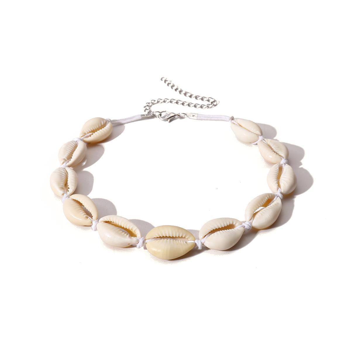 Nuevo modelo de moda de Bohemia ahogador de la vendimia collar hecho a mano de alta calidad de forma natural de las mujeres baratas de concha collar de gargantilla de joyería