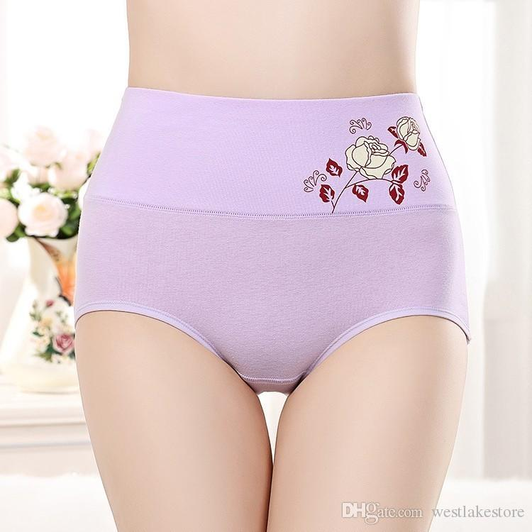 Cintura Shaper Do Corpo Briefs Cuecas das Mulheres Roupa Interior Sexy Calças De Emagrecimento meninas Controle de Tummy Cuecas De Algodão