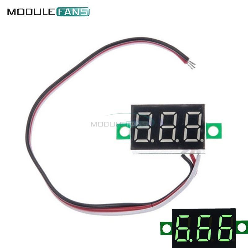 """0.36/"""" DC 0-30V LED Panel Voltage Meter 3-Digital Display Voltmeter Yellow"""