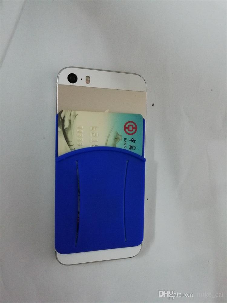 New Design Protective OEM LOGO 2018 Eco-friendly silicone business card holder,card holder,custom logo print cell phone sticker card holder