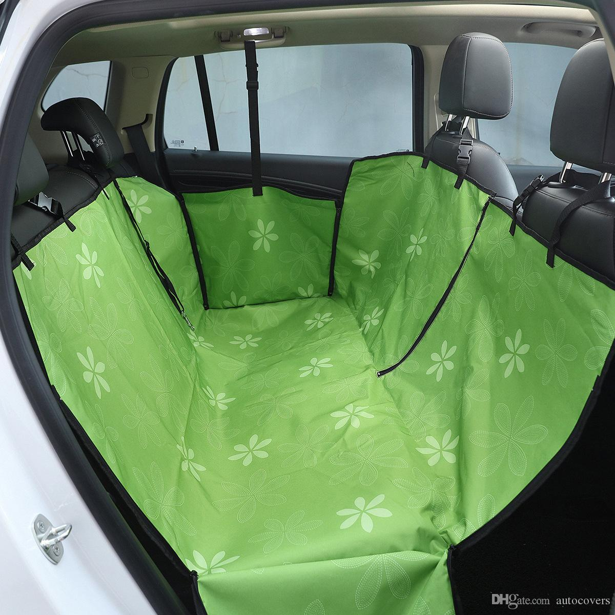 Car Pet Seat Cover For Cat Dog Safety Pet Waterproof Hammock Blanket Cover Mat Car Interior Travel Accessories Oxford Car Seat Covers Nylon