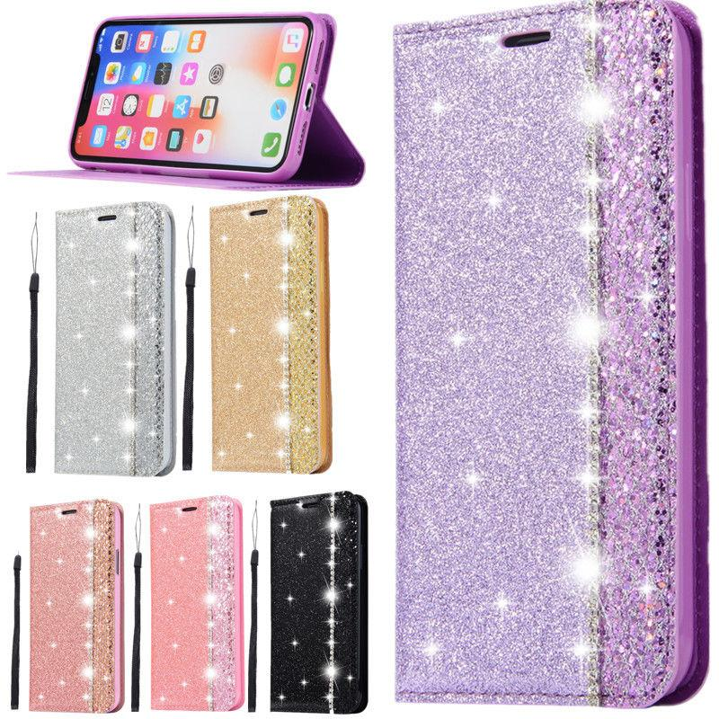 Bling Card Slot Case For iPhone 7 8 X