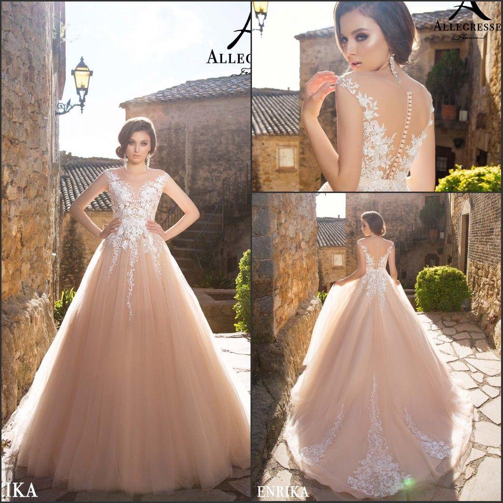 Discount Blush Pink Plus Size Lace Wedding Dresses 2018 A Line Summer Beach  Bridal Gowns Court Train Vestido De Novia With Appliques New Custom ...