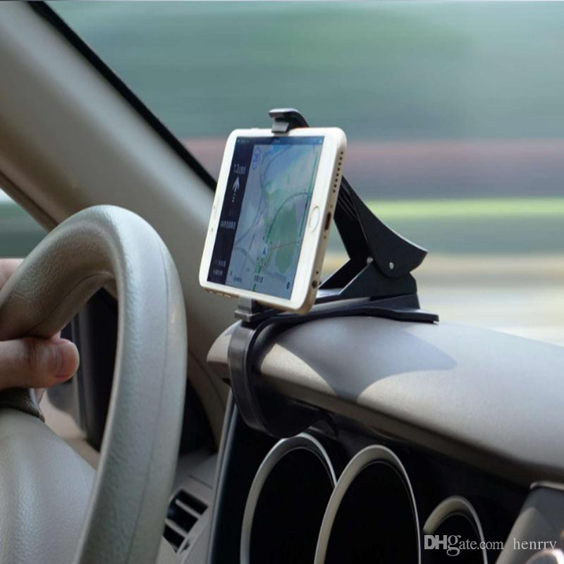 Car Dashboard Mobile Phone Bracket Car Cell Phone Holder 360 Degree Rotation Stable No Eye To Sight Mobile Phone Clips