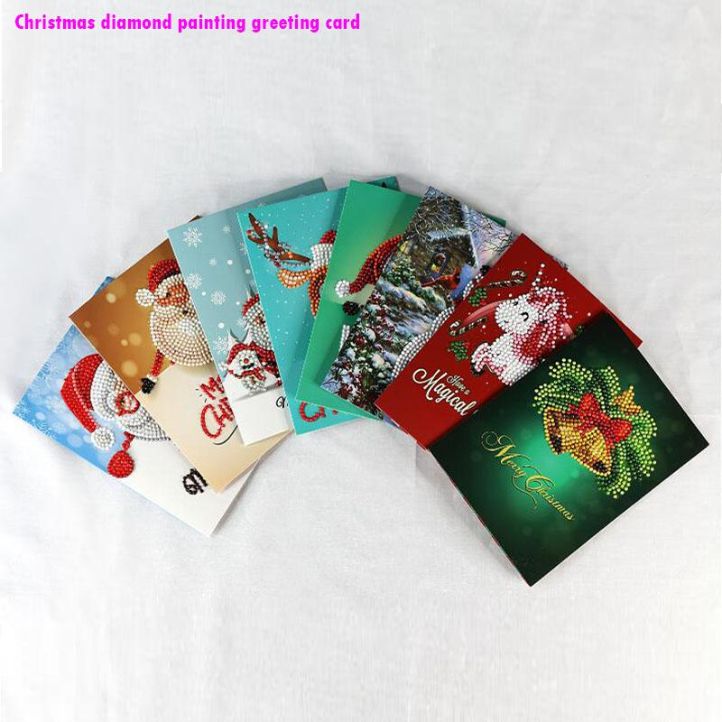 Beautiful Christmas Cards Diy Diamonds Drill Wish Card New Year Cards Merry Christmas Gift Greetings Between Friends Lover Greeting Cards Happy