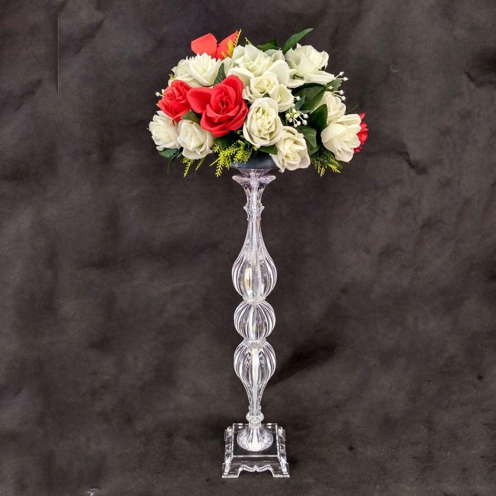 """Portaconfetti per fiori design unico 65 CM / 25.6 """"alto acrilico da tavolo vaso centrotavola per eventi da strada piombo per la decorazione domestica"""