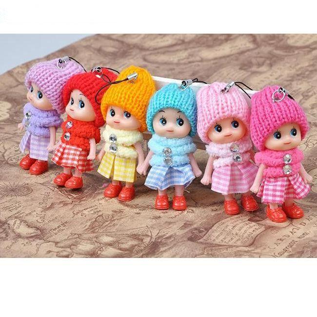 Kawaii بنات أطفال اللعب المفاتيح الأطفال طفل هدية عيد الميلاد دمية مفتاح سلسلة الكرتون الطفل لعبة الحلي
