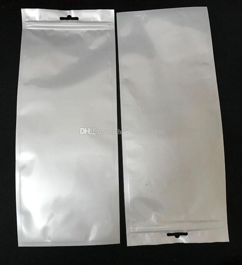 12x30cm 12 * 30cm klar, weiß Selbstdichtungs-Zipper-Plastikklein Verpackung Beutel Reißverschluss-Tasche Kleinpaket Fall-Loch