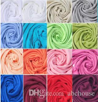 free DHL wholesale 40pcs Pashmina Cashmere Silk Solid Shawl Wrap Unisex Scarf Women's Scarf Pure 40 Color Scarf
