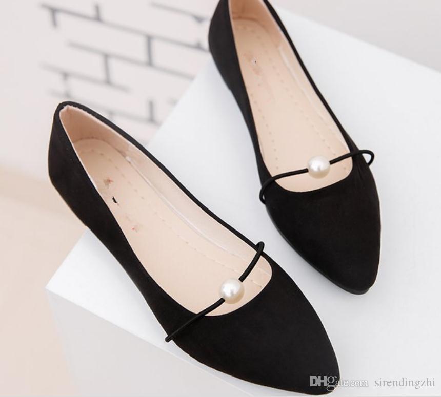 Invia libero scarpe coreano nuovo stile primavera fondo piatto scarpe a punta singola scarpe singole