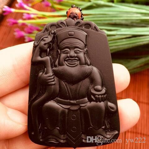 Natural Hetian Black Jade Fortune Wisiorek Wisiorek