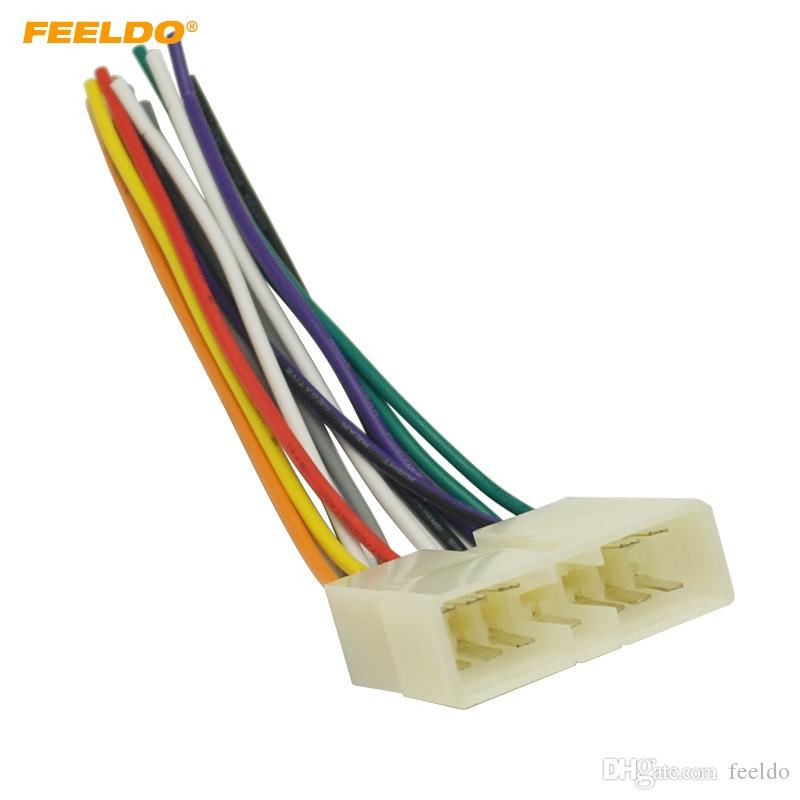 FEELDO Car Stereo Audio Wiring Harness Adapter Plug Male for Wuling Fudi Factory OEM Radio CD/DVD Wire Cable #3037